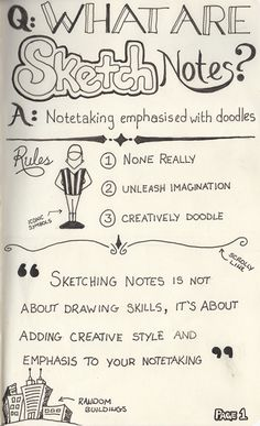 What Are Sketch Notes? - Nuggethead Studioz