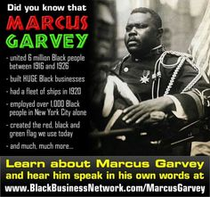 As a people, we need to educate our young black children to pioneers like Marcus Garvey. Black History Quotes, Black History Facts, Black History Month, Marcus Garvey Quotes, African American History, Black People, Knowledge, Black Power, African Americans