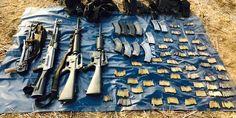 """Decomisan arsenal del grupo criminal """"Los Tequileros"""" en Guerrero - http://www.notimundo.com.mx/estados/arsenal-grupo-criminal-los-tequileros/"""