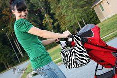 2-in-1 Bag: Stroller Bag into a Messenger Bag