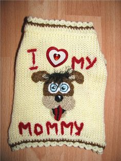 Dog+sweater++knitted+dog+clothes++puppy+sweater+by+annastoikova,+$15.00