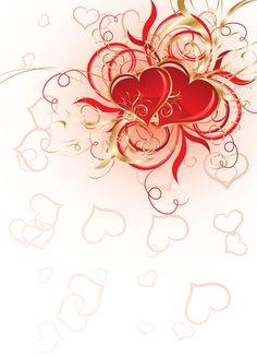 Papier a lettre coeur