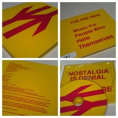 The Pre-New - Music For People Who Hate Themselves (2012) is packaged using a reversed version of the British Rail Logo. A very subtle graphic shift.