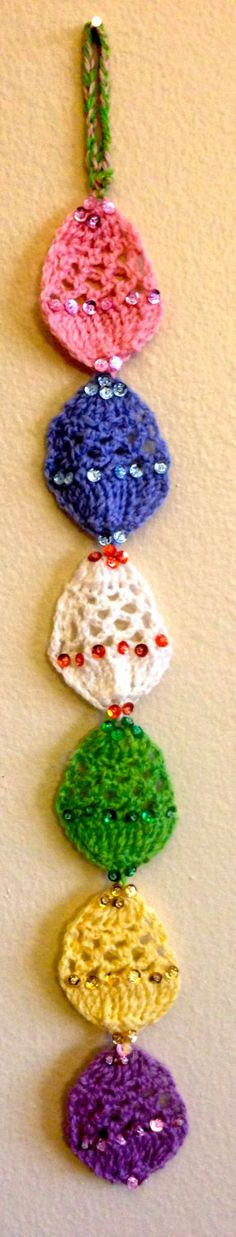Easter Egg Crocheted Decorative Door by OCCASIONsonjabegonia