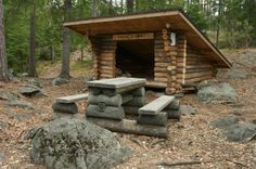 Laavu in Finland. Lean-to (11511). log lean-to, log table, hyvinkää, kaksoislammet, kaksoslammit, Kytäjä, benches, bench, camping, outdoor recreation, Usmi