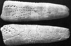 This is the famous lunar calendar from Abri Blanchard, carved from reindeer antler.