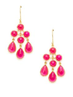 fun pink calcedony earrings