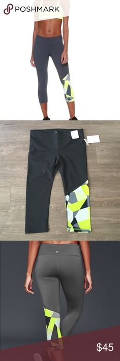 {GAPfit} gfast capri These are a great workout capri. Purchased a large, needed a medium. Regular rise, fitted through the leg, 21 inch inseam. NWT. Gap Pants Capris