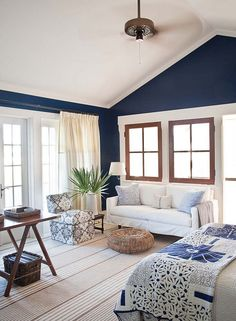 Love this blue with bright white