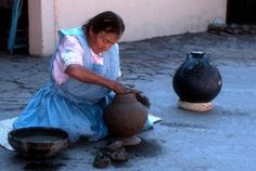 Oaxaca Mexico's  Artisans  in the  Village of Coyotepec  pottery - Google Image Result for http://www.softseattravel.com/sitebuilder/images/Oaxaca_Black_Pottery-441x296.jpg