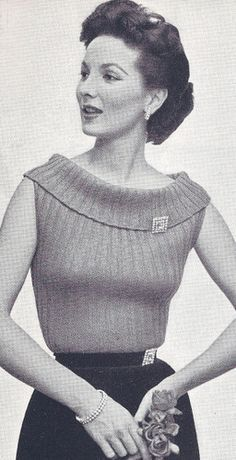 #0807 CORDED SWEATER VINTAGE KNITTING PATTERN