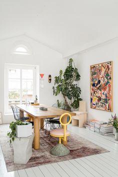 my scandinavian home: The Wonderful, Playful Loft Of A Furniture Designer