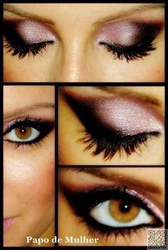 22. Pink #Smokey Eyes - 26 Different Ways to #Create Gorgeous Smokey Eyes ... → #Makeup #Glittery