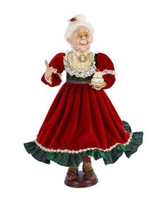 Red & Green Mrs. Claus Figurine