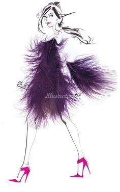 Jacqueline Bissett Ilustração Portfolio - Mão desenho Illustrator Moda e Artista