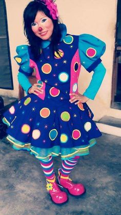 Clown Costume Women, Costumes For Women, Clown Dress, Dress Up, Adult Costumes, Halloween Costumes, Clown Clothes, Female Clown, Cute Clown