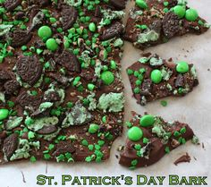 St. Patrick's Day Mint Bark!
