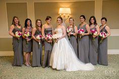 Lovely gray bridesmaid dresses