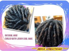 Natural Hair  Styled with Jerry Curl rods