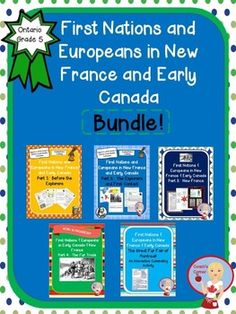 First Nations and Europeans in New France and Early Canada BUNDLE - Grade 5 Ontario Social Studies Ontario Curriculum, Social Studies Curriculum, Social Studies Classroom, Social Studies Activities, Teaching Social Studies, Classroom Resources, Educational Activities, Masters In Psychology, Applied Psychology