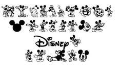 Mickey Ears Disney Font! Can be used for many projects