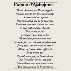 poeme alzheimer - All Diseases French Poems, French Quotes, Alzheimers, Story Poems, Growth Mindset Posters, Perfect Word, Heartfelt Quotes, Positive Affirmations, Inspirational Quotes
