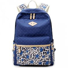 Cheap New College Style Leopard Stitching Wave Point Printed Canvas Casual Backpack Schoolbag For Big Sale!New College Style Leopard Stitching Wave Point Printed Canvas Casual Backpack Schoolbag Lace Backpack, Striped Backpack, Backpack Bags, Laptop Backpack, Cute Backpacks, Girl Backpacks, School Backpacks, Canvas Backpacks, Fashion Bags