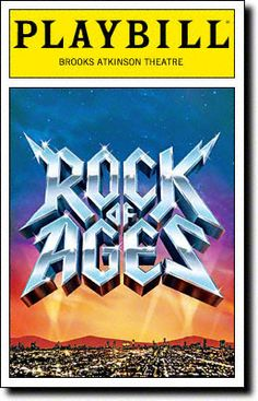 Rock of Ages Playbill Covers on Broadway - Information, Cast, Crew, Synopsis and Photos - Playbill Vault