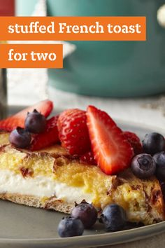 Our Best Stuffed French Toast for Two – Stuffed with Neufchatel cheese, brown sugar, and cinnamon, this delicious breakfast-time recipe recipe will soon be a weekend favorite! Especially since it's ready in just 15 minutes.