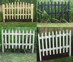 pallet garden fences | used for garden decor these items can brighten up any garden and is ...