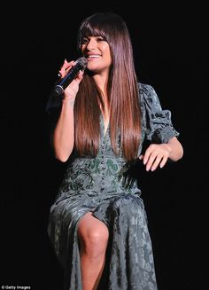 Glee star Lea Michele wows at intimate theatre performance #dailymail