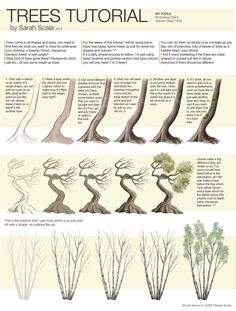 Trees Tutorial by SarahScala.deviantart.com on @deviantART: