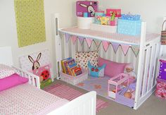 recycle a crib - love these ideas since we have a drop-sided crib that can't be passed on
