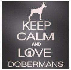 Keep calm and love dobermans