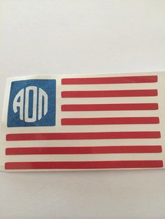 Alpha Omicron Pi American Flag Decal by BowsAndClips on Etsy, $5.00