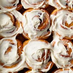 Recipe for easy homemade overnight pumpkin cinnamon rolls. Soft and fluffy with maple cream cheese frosting. Prep the night before and bake in the morning! Pumpkin Cinnamon Rolls, Pumpkin Butter, Pumpkin Spice, Orange Sweet Rolls, Healthy Pumpkin Bread, Maple Cream, Chocolate Muffins, Fall Baking, Pumpkin Recipes