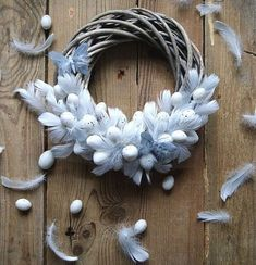 DIY home made hand made Easter door wreath with cheap plastic eggs. Pastel coloured eggs with ribbon. Step by step guide. Easter Wreaths, Christmas Wreaths, Easter 2020, Easter Holidays, Wreath Crafts, Easter Crafts, Easter Decor, Spring Crafts, How To Make Wreaths