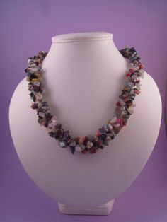 Multi Colour Gemstone Chip Chunky Necklace by SerendipityFinch, £28.00