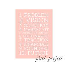 The recipe for a perfect pitch deck.