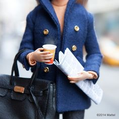 """""""Perfect start to a New York weekend, coffee and the paper!  #barbie #barbiestyle"""""""