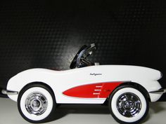 Chevy Pedal Car Vintage 1950s Corvette Sport Hot Rod Midget Metal Show Model Art