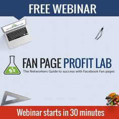 FAN PAGE PROFIT LAB http://www.yourfreedomproject.com/shaklee-training-for-facebook-fanpages/ WEBINAR STARTS IN 30 MINUTES! Tip: Check your email inbox for the confirmation email that contains the details you need to get in to the webinar. Thanks and see you there!