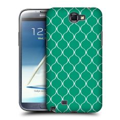 HEAD CASE EMERALD OGEE PATTERN HARD BACK CASE FOR SAMSUNG GALAXY NOTE 2 II N7100