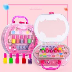 Children's Makeup Toy Tote Bag Storage Princess Stage Show Little Girl Nail Polish Girls Toys speelgoed juguetes Little Girl Nails, Girls Nails, Polish Girls, Little Girls, Bedroom For Girls Kids, Toys For Girls, Childrens Makeup, Makeup Toys, Stage Show
