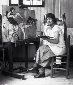 Suzanne Valadon 1926 - Suzanne Valadan - was a French painter born Marie-Clémentine Valadon at Bessines-sur-Gartempe, Haute-Vienne, France. In 1894, Valadon became the first woman painter admitted to the Société Nationale des Beaux-Arts. She was also the mother of painter Maurice Utrillo.