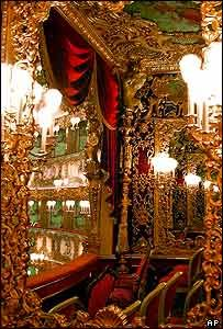 Gorgeous gold details at the famous La Fenice opera house in Venice #SecretTreasures