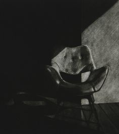 'empty spaces, discarded objects III' | mezzotint | Kate Riley