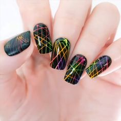 Beauty Tips - Neon Effect Nail Art Using Spider Gel & Neon Powder Nail Art Designs Videos, Cute Nail Art Designs, Gel Nail Designs, Nails Design, New Nail Art, Cool Nail Art, Gell Nails, Emerald Nails, Stylish Nails