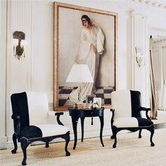 Fresh take on classical interior.