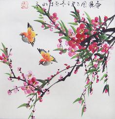 Resultado de imagen de chinese flower painting